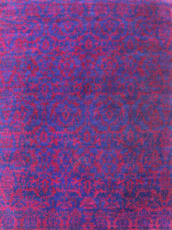 SARI SILK SILK0 BLUE / RED