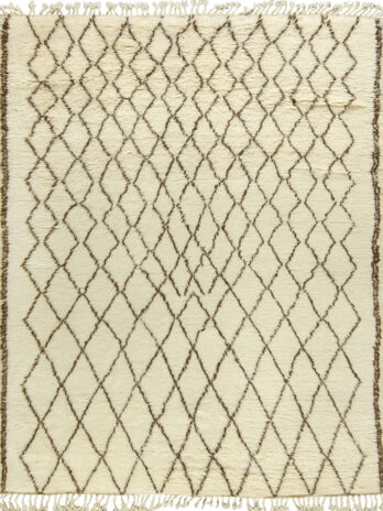 MOROCCAN TAZA 110 (TZ110) IVORY / BROWN